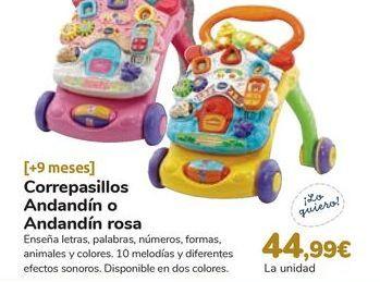 Oferta de Correpasillos Andandín o Andandín rosa por 44,99€