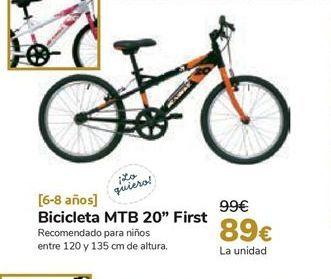 Oferta de Bicicleta MTB 20'' First por 89€
