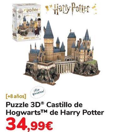 Oferta de Puzzle 3D  Castillo de Hogwarts de Harry Potter  por 34,99€