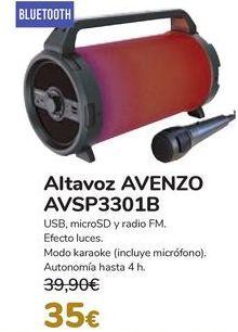 Oferta de Altavoz AVENZO AVSP3301B por 35€