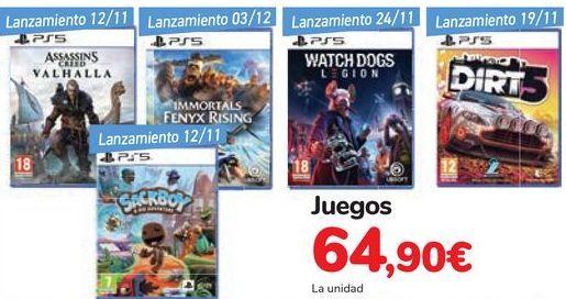 Oferta de Juegos  por 64,9€