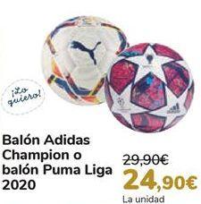 Oferta de Balón Adidas Champion o balón Puma Liga 2020 por 24,9€
