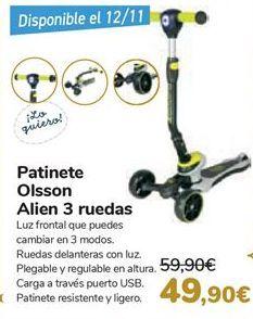 Oferta de Patinete Olsson Alien 3 ruedas  por 49,9€