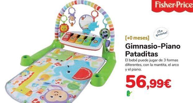 Oferta de Gimnasio-Piano Pataditas Fisher-Price por 56,99€