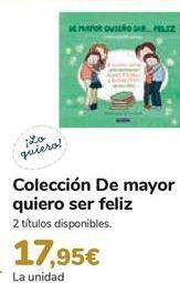 Oferta de Colección De mayor quiero ser feliz  por 17,95€