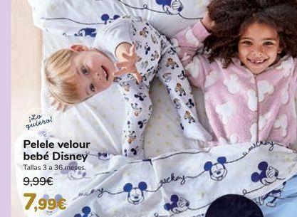Oferta de Pelel velour bebé Disney  por 7,99€