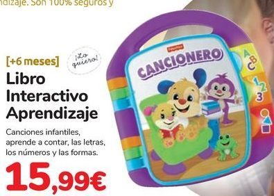 Oferta de Libro Interactivo Aprendizaje por 15,99€