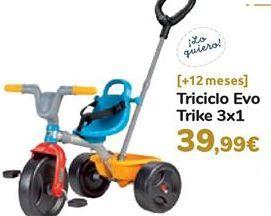 Oferta de Triciclo Evo Trike 3x1 por 39,99€