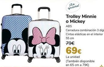 Oferta de Trolley Minnie o Micket  por 69€