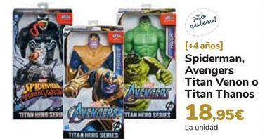 Oferta de Spiderman, Avengers Titan Venon o Titan Thanos por 18,95€