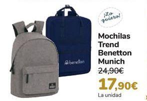 Oferta de Mochila Trend Benetto Munich  por 17,9€
