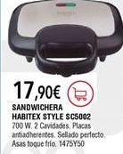 Oferta de Sandwichera Habitex por 17,9€