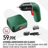 Oferta de Atornillador Bosch por 59,95€