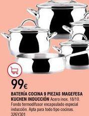 Oferta de Batería de cocina por 99€