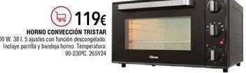 Oferta de Mini horno Tristar por 119€