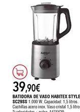 Oferta de Batidora de vaso Habitex por 39,9€
