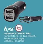 Oferta de Cargador de coche Elbe por 6,95€