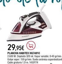 Oferta de Plancha de vapor por 29,95€