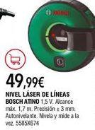 Oferta de Nivel láser Bosch por 49,99€