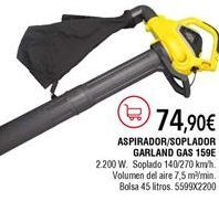 Oferta de Aspirador soplador Garland por 74,9€