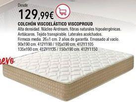 Oferta de Colchón viscoelástico por 129,99€