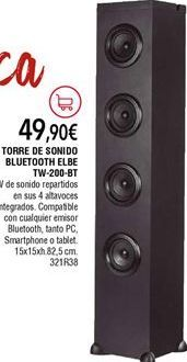 Oferta de Altavoces de torre por 49,9€