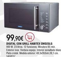 Oferta de Microondas con grill Habitex por 99,9€