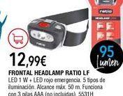 Oferta de Linterna frontal por 12,99€
