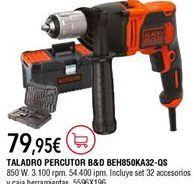 Oferta de Taladro percutor Black & Decker por 79,95€