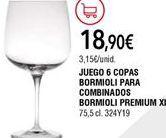 Oferta de Copas por 18,9€