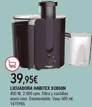 Oferta de Licuadora por 39,95€