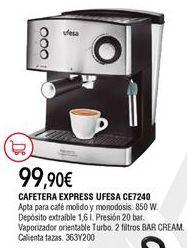 Oferta de Cafetera express por 99,9€