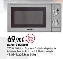 Oferta de Microondas Habitex por 69,9€