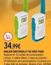 Oferta de Walkie talkie Motorola por 34,99€