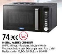 Oferta de Microondas Habitex por 74,9€