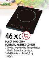 Oferta de Placa de inducción Habitex por 46,9€