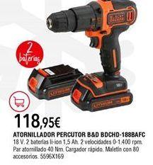 Oferta de Atornillador Black & Decker por 118,95€
