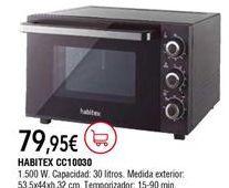 Oferta de Mini horno Habitex por 79,95€