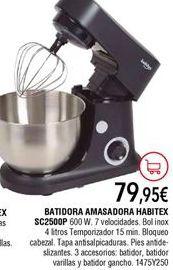 Oferta de Batidora amasadora por 79,95€