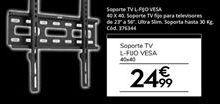 Oferta de Soporte para tv por 24,99€