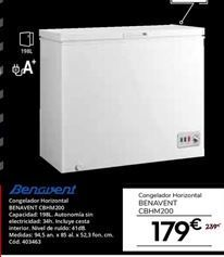 Oferta de Congelador horizontal Benavent por 179€