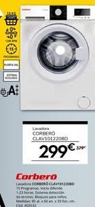 Oferta de Lavadora carga frontal Corberó por 299€