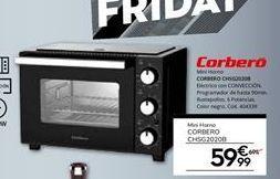 Oferta de Mini horno Corberó por 59,99€