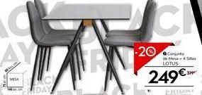 Oferta de Conjunto mesa y sillas por 249€
