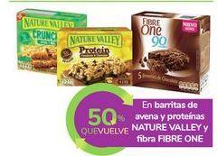 Oferta de En barritas de avena y proteínas NATURE VALLEY y fibra FIBRE ONE  por