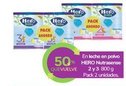Oferta de En leche en polvo HERO Nutrasense 2 y 3 por
