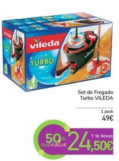 Oferta de Set de Fregado Turbo VILEDA por 49€