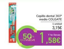 Oferta de Cepillo dental 360º medio COLGATE por 3,15€