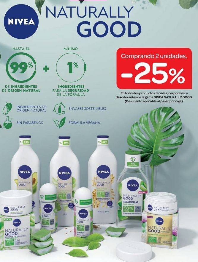 Oferta de Naturally GOOD Nivea  por