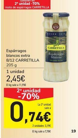 Oferta de Espárrago blancos extra CARRETILLA por 2,45€